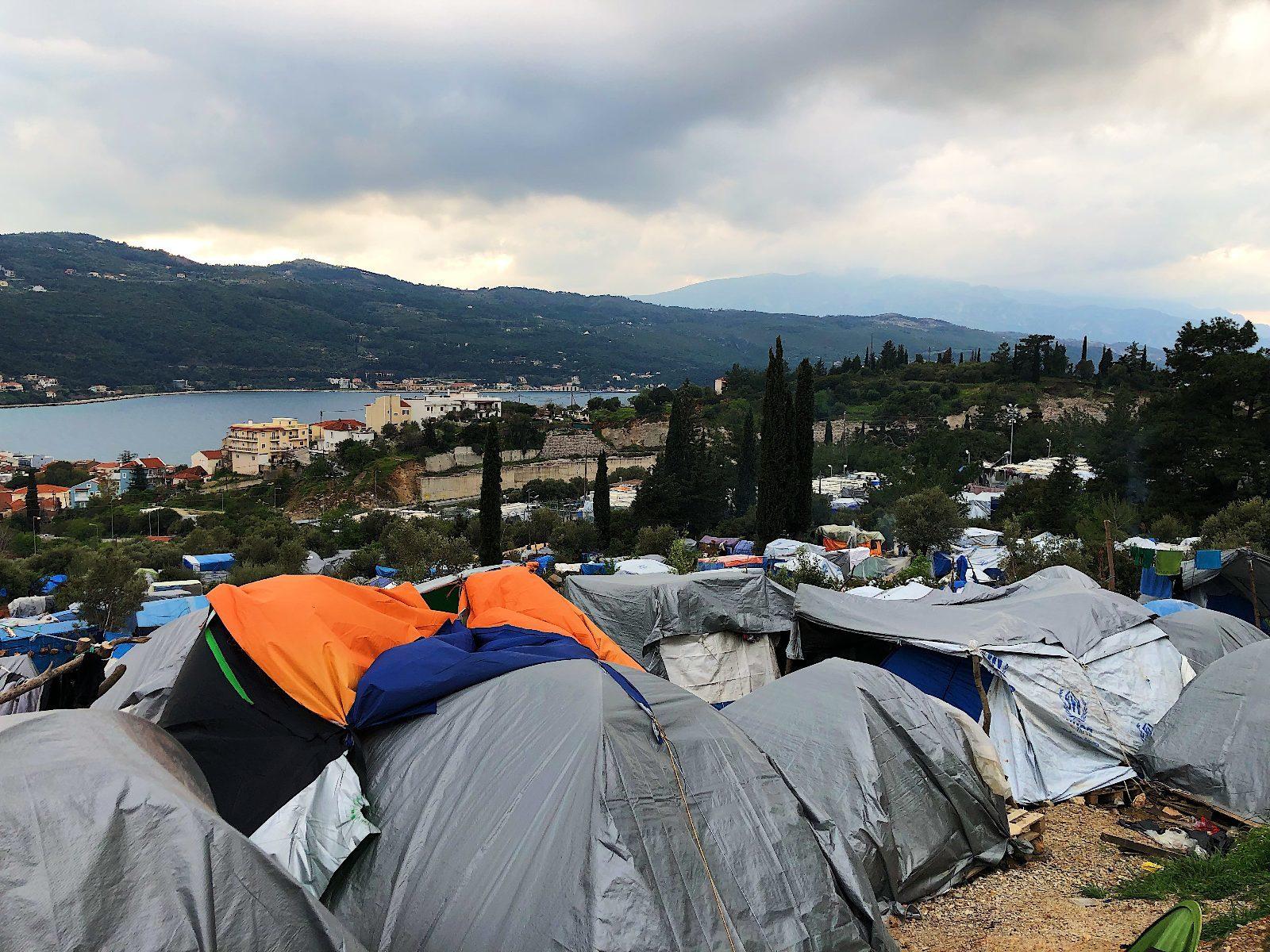 Samos tent camp