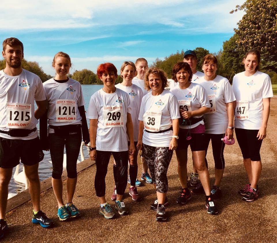 Runners fundraising
